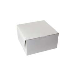 12 x 12 x 4 WHITE ONE-PIECE BAKERY BOXES