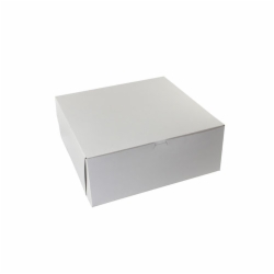14 x 14 x 6 WHITE ONE-PIECE BAKERY BOXES