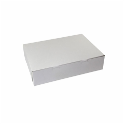 11 x 8 x 4 WHITE ONE-PIECE BAKERY BOXES