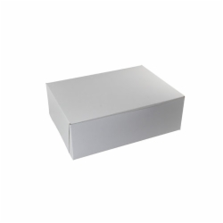 15 x 11.5 x 2 WHITE ONE-PIECE BAKERY BOXES