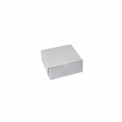 8 x 8 x 3 WHITE ONE-PIECE BAKERY BOXES