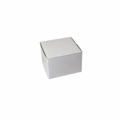 7 x 7 x 5 WHITE ONE-PIECE BAKERY BOXES
