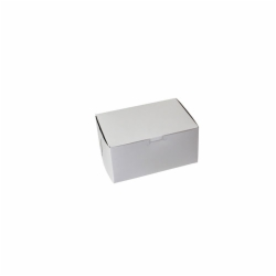 8 x 5.5 x 4 WHITE ONE-PIECE BAKERY BOXES