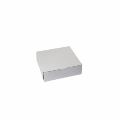 8 x 8 x 2.5 WHITE ONE-PIECE BAKERY BOXES