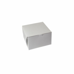 8 x 8 x 5 WHITE ONE-PIECE BAKERY BOXES