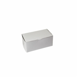9 x 5 x 4 WHITE ONE-PIECE BAKERY BOXES