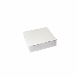 9 x 9 x 2.5 WHITE ONE-PIECE BAKERY BOXES