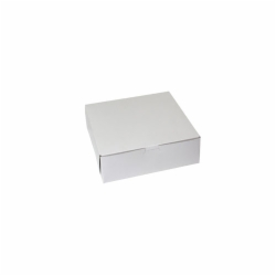 9 x 9 x 3 WHITE ONE-PIECE BAKERY BOXES