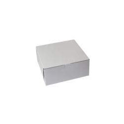 9 x 9 x 4 WHITE ONE-PIECE BAKERY BOXES