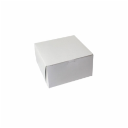 9 x 9 x 5 WHITE ONE-PIECE BAKERY BOXES