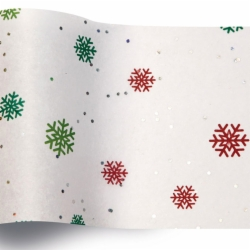 20 x 30 JUST SNOWFLAKES GEMSTONE TISSUE PAPER