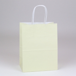 8 x 4.75 x 10.5 VANILLA PAPER SHOPPING BAGS - 100% RECYCLED