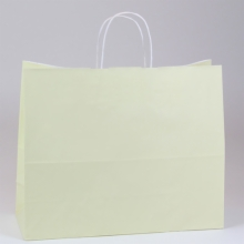 16 x 6 x 12 VANILLA PAPER SHOPPING BAGS - 100% RECYCLED