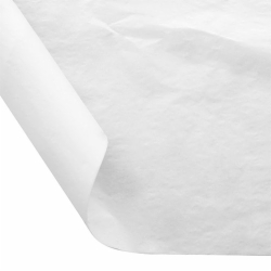 12 x 12 FOOD SAFE TISSUE BASKET LINERS 18# DRY WAX - WHITE