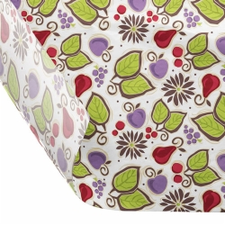 12 x 12 FOOD SAFE TISSUE BASKET LINERS 18# DRY WAX - FRUIT PRINT