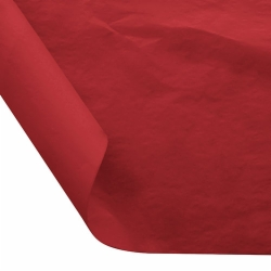 12 x 12 FOOD SAFE TISSUE BASKET LINERS 18# DRY WAX - CHERRY RED