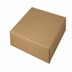 12 x 12 x 5.5 NATURAL KRAFT PINSTRIPE TWO-PIECE GIFT BOXES