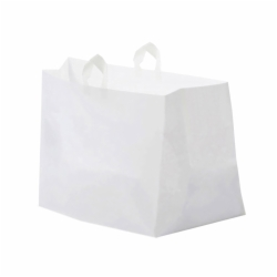 14 x 11.5 x 12 PLASTIC CATERING BAGS WITH SOFT LOOP HANDLES