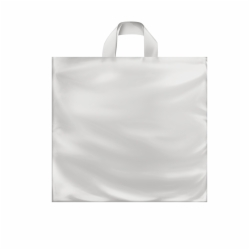 16 x 15 x 6 CLEAR FROSTED SOFT LOOP HANDLE PLASTIC BAGS