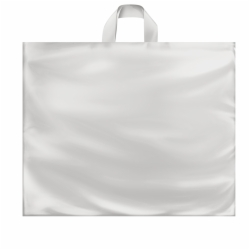 22 x 18 x 8 CLEAR FROSTED SOFT LOOP HANDLE PLASTIC BAGS