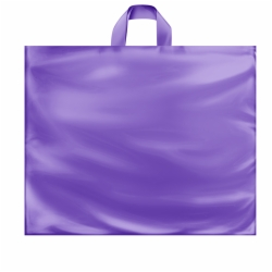 22 x 18 x 8 GRAPE FROSTED SOFT LOOP HANDLE PLASTIC BAGS
