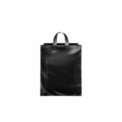 8 x 5 x 10 BLACK FROSTED LOOP-HANDLE PLASTIC BAGS