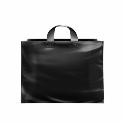 16 x 6 x 12 BLACK FROSTED LOOP-HANDLE PLASTIC BAGS