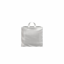 8 x 4 x 7 CLEAR FROSTED LOOP-HANDLE PLASTIC BAGS