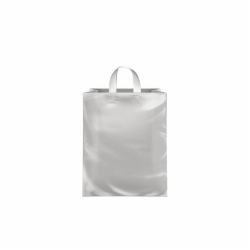 8 x 5 x 10 CLEAR FROSTED LOOP-HANDLE PLASTIC BAGS