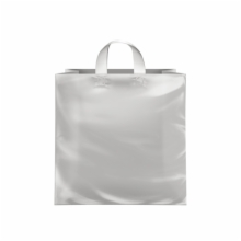 13 x 7 x 13 CLEAR FROSTED LOOP-HANDLE PLASTIC BAGS