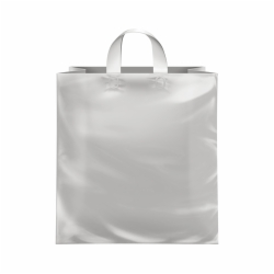 14 x 10 x 15 CLEAR FROSTED LOOP-HANDLE PLASTIC BAGS