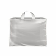 16 x 6 x 12 CLEAR FROSTED LOOP-HANDLE PLASTIC BAGS