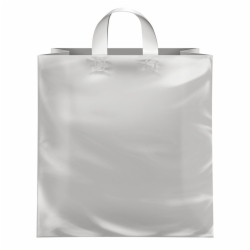 17 x 7 x 18 CLEAR FROSTED LOOP-HANDLE PLASTIC BAGS