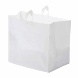 22 x 14 x 15.25 PLASTIC CATERING BAGS WITH SOFT LOOP HANDLES