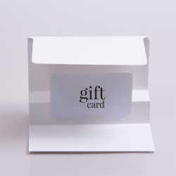 5 x 3-3/8 WHITE ICE GIFT CARD FOLDERS