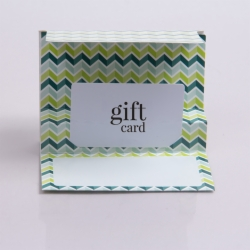 5 x 3-3/8 KIWI CHEVRON GIFT CARD FOLDERS