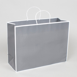 16 x 6 x 12 SLATE GRAY PAPER SHOPPING BAGS