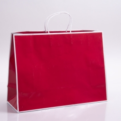 16 x 6 x 12 RED PAPER SHOPPING BAGS