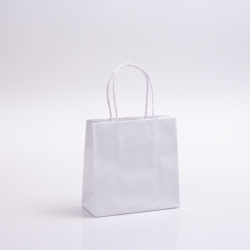 7 x 3 x 7 WHITE PAPER SHOPPING BAGS