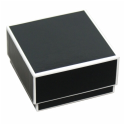 3 x 3 x 1.25 BLACK JEWELRY BOX