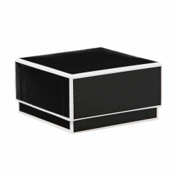 3.5 x 3.5 x 2 BLACK JEWELRY BOX