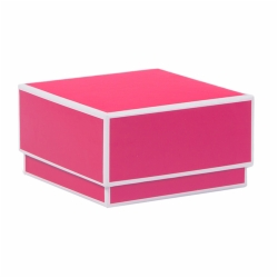 3.5 x 3.5 x 2 FUCHSIA JEWELRY BOX