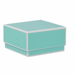 3.5 x 3.5 x 2 BAY BLUE JEWELRY BOX