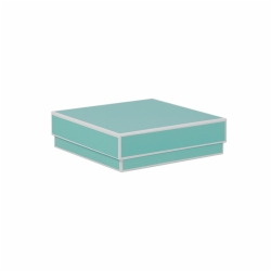 5 x 5 x 1.5 BAY BLUE JEWELRY BOX