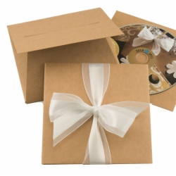 5.25 x 5.25 NATURAL KRAFT GIFT CARD FOLDERS