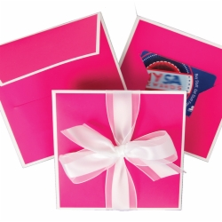 5.25 x 5.25 FUCHSIA GIFT CARD FOLDER