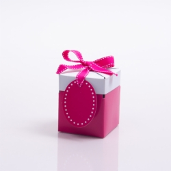 3 x 3 x 3.25 FUCHSIA POP UP BOX