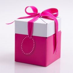 5 x 5 x 6 FUCHSIA POP UP BOX