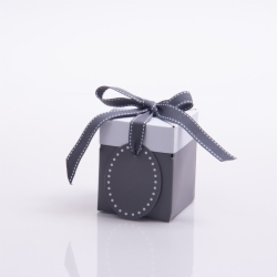 3 x 3 x 3.25 SLATE GRAY POP UP BOX