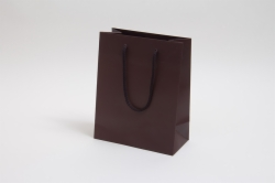 8 x 4 x 10 MATTE CHOCOLATE EUROTOTE SHOPPING BAGS